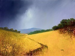 Valley Cottage II by Barry Hilton -  sized 16x12 inches. Available from Whitewall Galleries